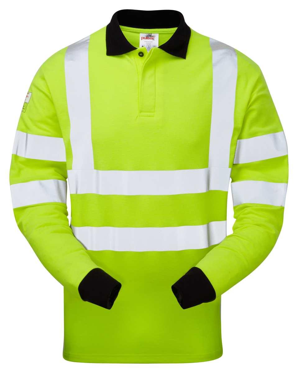 f08eeea1c070 Flame Retardant Anti Static Hi Vis Polo Shirt Praybourne PARC21
