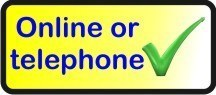 Telephone or online ordering