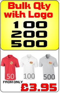 Embroidered polo shirts from only £3.95
