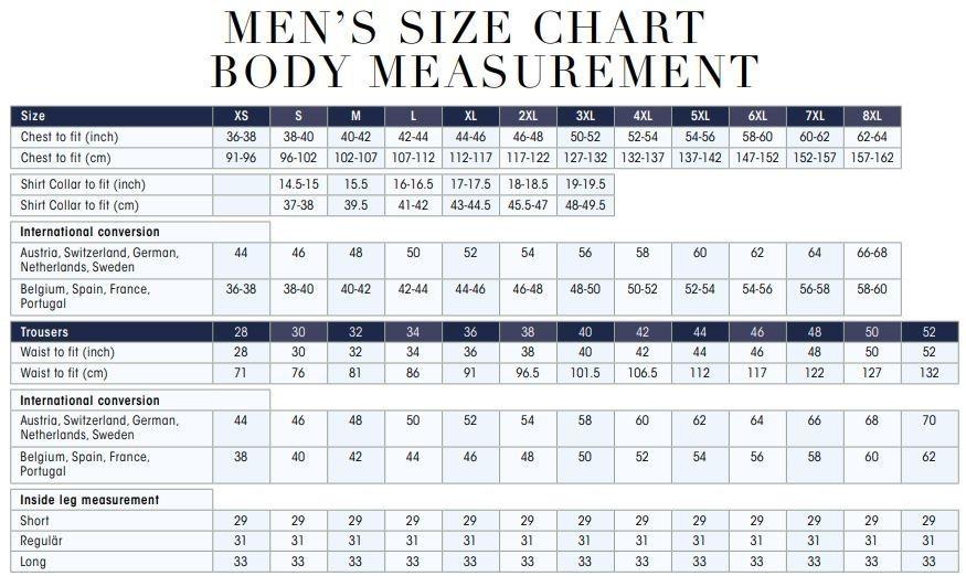 Uneek clothing size chart