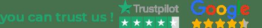 Trustpilot & Google ratings logo