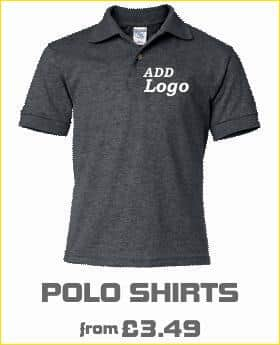 Polo shirts with embroidered logo