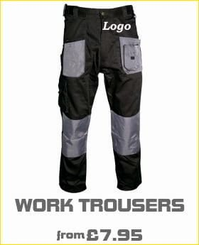 work trousers with logo