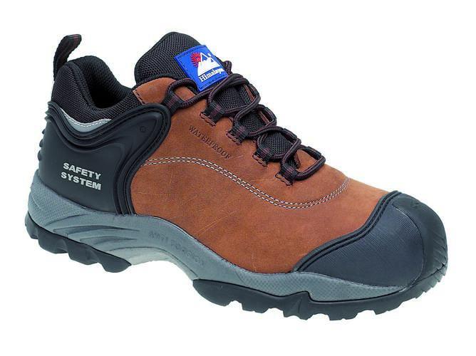 Brown Nubuck Waterproof Shoe Metal Free, HIMALAYAN-4105,