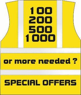 100 custom printed hi vis vest special offer