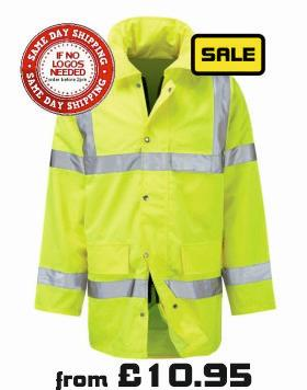 Hi Vis padded jacket next day delivery 10.95