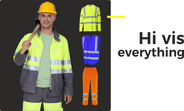 Hi Vis coats, Jackets, vests trousers, everything