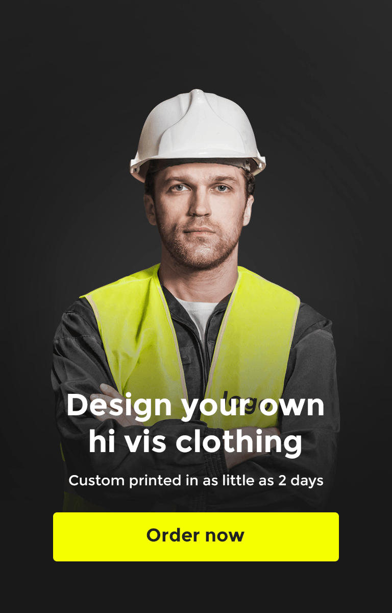 Design your own custom Hi Vis Clothing with hivis.co.uk mobile banner