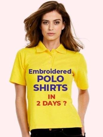 Embroidered polo shirts in 2 days