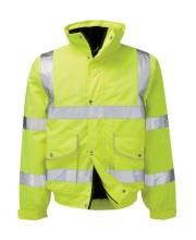Hi Vis Bomber Jacket in Yellow