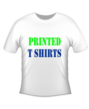 Custom printed tee Shirts