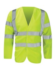 Yellow Hi Vis vest with sleeves