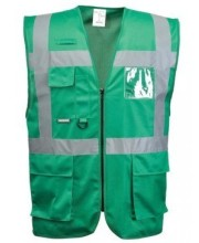 Green Hi Vis vest with pockets