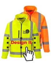 Personalised Hi Vis Softshell jackets