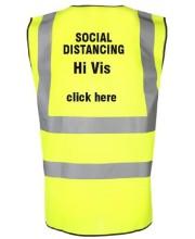 Social Distancing Printed Hi Vis vests
