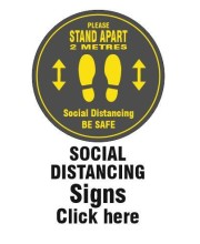 Social Distancing Floor Stickers and signs
