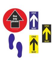 Social Distancing Arrows & Footprints