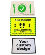 Social Distancing Floor and Table Mats