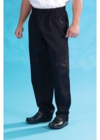Dennys Black Chefs Trousers DC18B