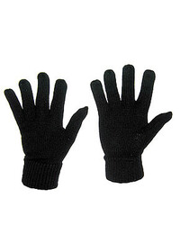 Knitted Full Finger Gloves Black ACGBL01