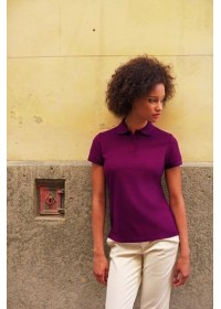 Embroidered Fruit of the Loom SS212 Lady-Fit Polo shirt