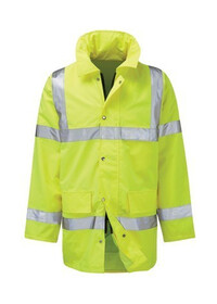 Custom Printed Hi Vis Jacket Coat Yellow