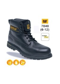 CATERPILLAR 7040 Holton Black Leather Safety Boot