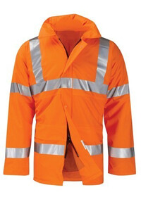 Custom Hi Vis Padded Coat Orange