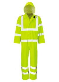 Hi Vis Waterproof Coverall Hydra Flex