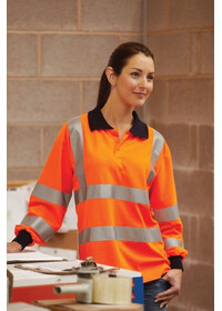 Hi vis long sleeved polo shirt