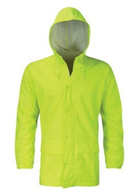 Unpadded Hi Vis yellow Coat
