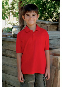 Fruit of the Loom SS417 Kid's 65/35 pique polo
