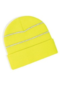 Beechfield BC042,High-viz knitted striped hat