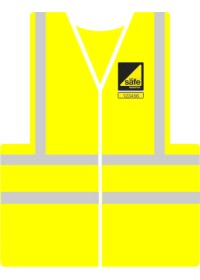 Gas Safe printed hi visibility vest with Gas safe logo