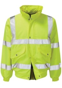 Personalised Hi Vis Bomber Jacket in Yellow