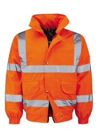 Orange Hi Vis Bomber Jacket & Custom Print