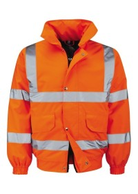 Custom Printed Orange Hi Vis Bomber Jacket