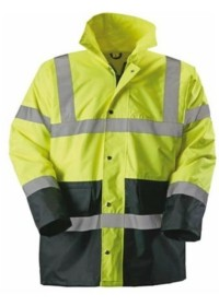 Custom Two Tone Hi Vis Jacket - Yellow and Blue