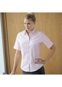 Henbury HB516,Women's short sleeve  Oxford shirt