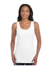 Gildan White Ladies tank top vest