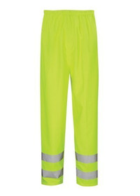 Breathable Hi Vis Overtrousers, Flexible