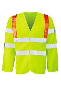 Hi Vis Long sleeved vest with red braces