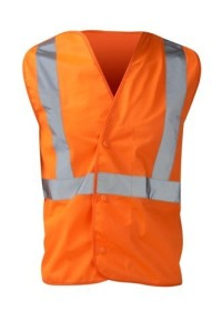 Hi Vis Orange Rail Spec Pull Apart Vest
