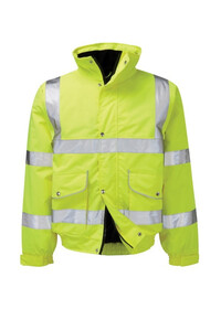 Hi Vis Premium Yellow Bomber Jacket