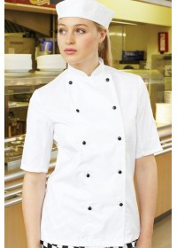 Dennys DD20S Short Sleeve Chefs Jacket