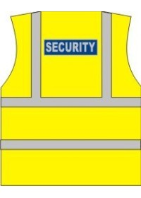 Security Printed Hi Vis Vest
