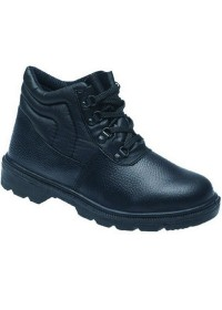 Black Dual Density PU Boot with Midsole, TOESAVERS-2415,
