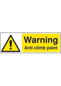 Warning anti climb paint sign
