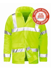 Waterproof Padded Hi Vis Hydra Flex Coat