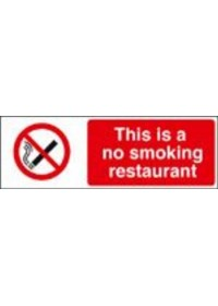 This is a no smoking restaurant sign
